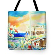 Post Office In The Island Tote Bag