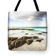 Postcard Perfect Ocean Background Tote Bag