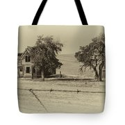 Barbed Wire - No Trespassing Tote Bag