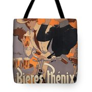 Poster Advertising Phenix Beer Tote Bag by Adolf Hohenstein