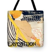 Poster Advertising The Exposition Internationale Daffiches Paris Tote Bag