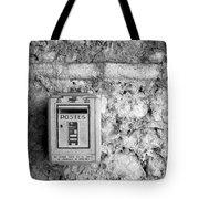 Postes In Black And White Tote Bag