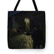Postman Walks Over The Bridge Tote Bag