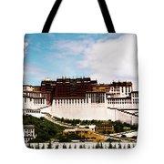 Potala Palace Dalai Lama Home Place. Tibet Kailash Yantra.lv 2016  Tote Bag