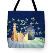 Pots And Ivy On Plaid Tote Bag