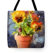 Potted Pansy Pencil Tote Bag
