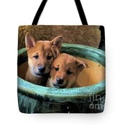 Potted Puppies Tote Bag