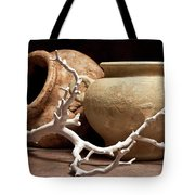 Pottery With Branch II Tote Bag