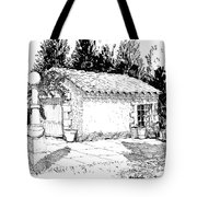 Potting Shed At Le Coin Retro In Le Thor France Tote Bag