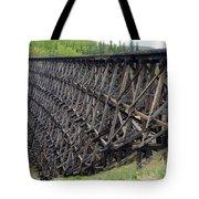 Pouce Coupe Train Wooden Trestle Tote Bag