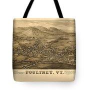 Poultney Vermont Map Vintage Tote Bag