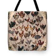 Poultry Of The World Poster Tote Bag