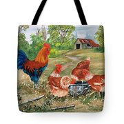 Poultry Peckin Pals Tote Bag