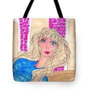 Pourcelin Doll Face Tote Bag