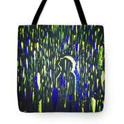 Pouring Rain And Light Tote Bag