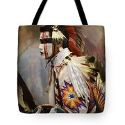 Pow Wow First Nation Dancer Tote Bag