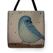 Powder Blue Tote Bag by Ginny Youngblood