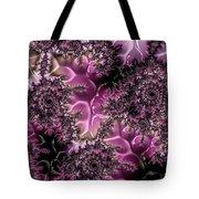 Powder Pink Black Gloss Fractal  Tote Bag