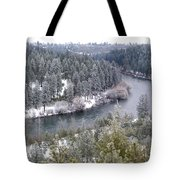 Powdered Spokane River Tote Bag