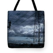 Los Angeles Power Grid At Dusk Tote Bag