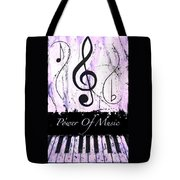 Power Of Music Purple Tote Bag