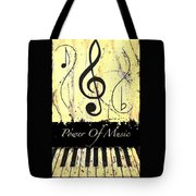 Power Of Music Yellow Tote Bag