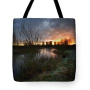 Power Plant Sunrise 1.0 Tote Bag