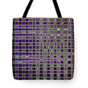 Power Tower And Agave Checkerboard Abstract Tote Bag