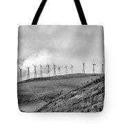 Power Wind Turbines  Bw Tote Bag