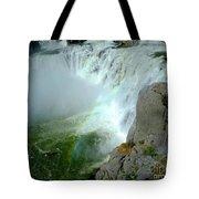 Powerful Large Waterfall Shoshone Falls Amazing Beauty Water Fal Tote Bag