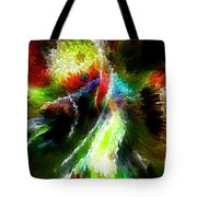 Powwow Dancer Abstract Tote Bag
