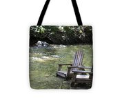 pr 165 - Chairs In The River Tote Bag