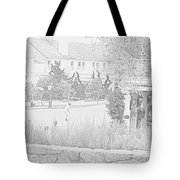 Practice Round At Pebble Beach Tote Bag