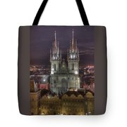 Prague At Night Tote Bag