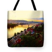 Prague At Sundown Tote Bag