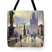 Prague Charles Bridge 02 Tote Bag by Yuriy  Shevchuk