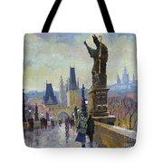 Prague Charles Bridge 04 Tote Bag by Yuriy  Shevchuk