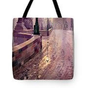 Prague Charles Bridge Night Light Tote Bag