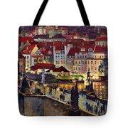 Prague Charles Bridge With The Prague Castle Tote Bag