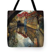 Prague Chertovka 3 Tote Bag by Yuriy  Shevchuk