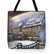 Prague Chertovka Winter 01 Tote Bag by Yuriy  Shevchuk
