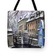 Prague Chertovka Winter Tote Bag