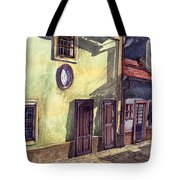 Prague Golden Line Street Tote Bag