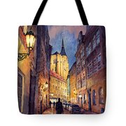 Prague Husova Street Tote Bag by Yuriy  Shevchuk