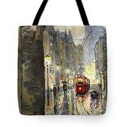 Prague Mostecka Street Tote Bag