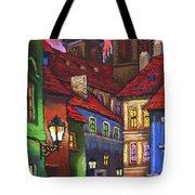Prague Old Street 01 Tote Bag
