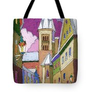 Prague Old Street Jilska Winter Tote Bag
