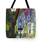 Prague Old Street Mostecka Tote Bag