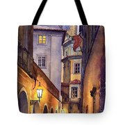 Prague Old Street  Tote Bag