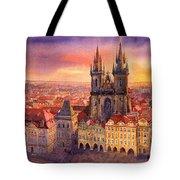 Prague Old Town Square 02 Tote Bag by Yuriy  Shevchuk